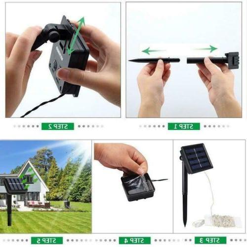 100-200 Solar Power String Fairy Lights Party Home Garden Decor