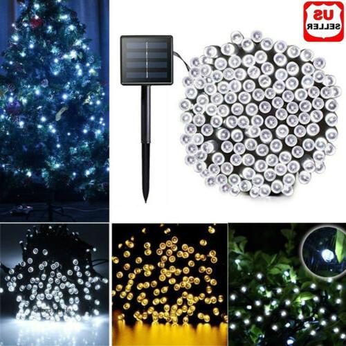 100 200 led solar string fairy light