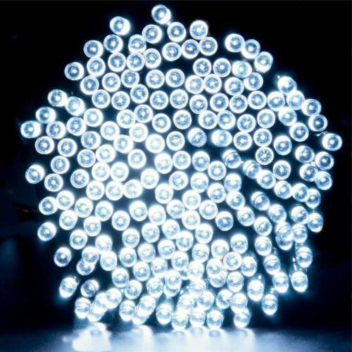 100/200 LED Solar Fairy Lights 8 Mode Waterproof