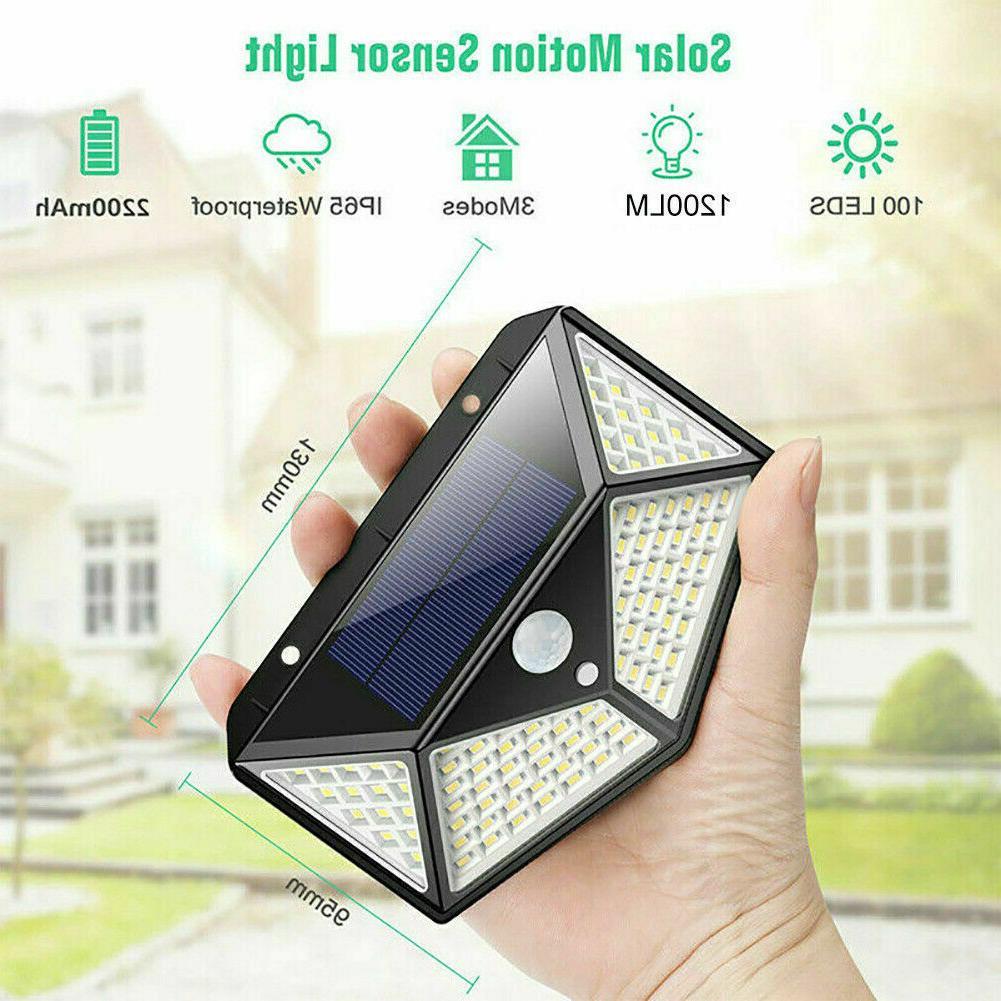 100 Outdoor Solar Power Motion Sensor Light Waterproof Yard Lamp