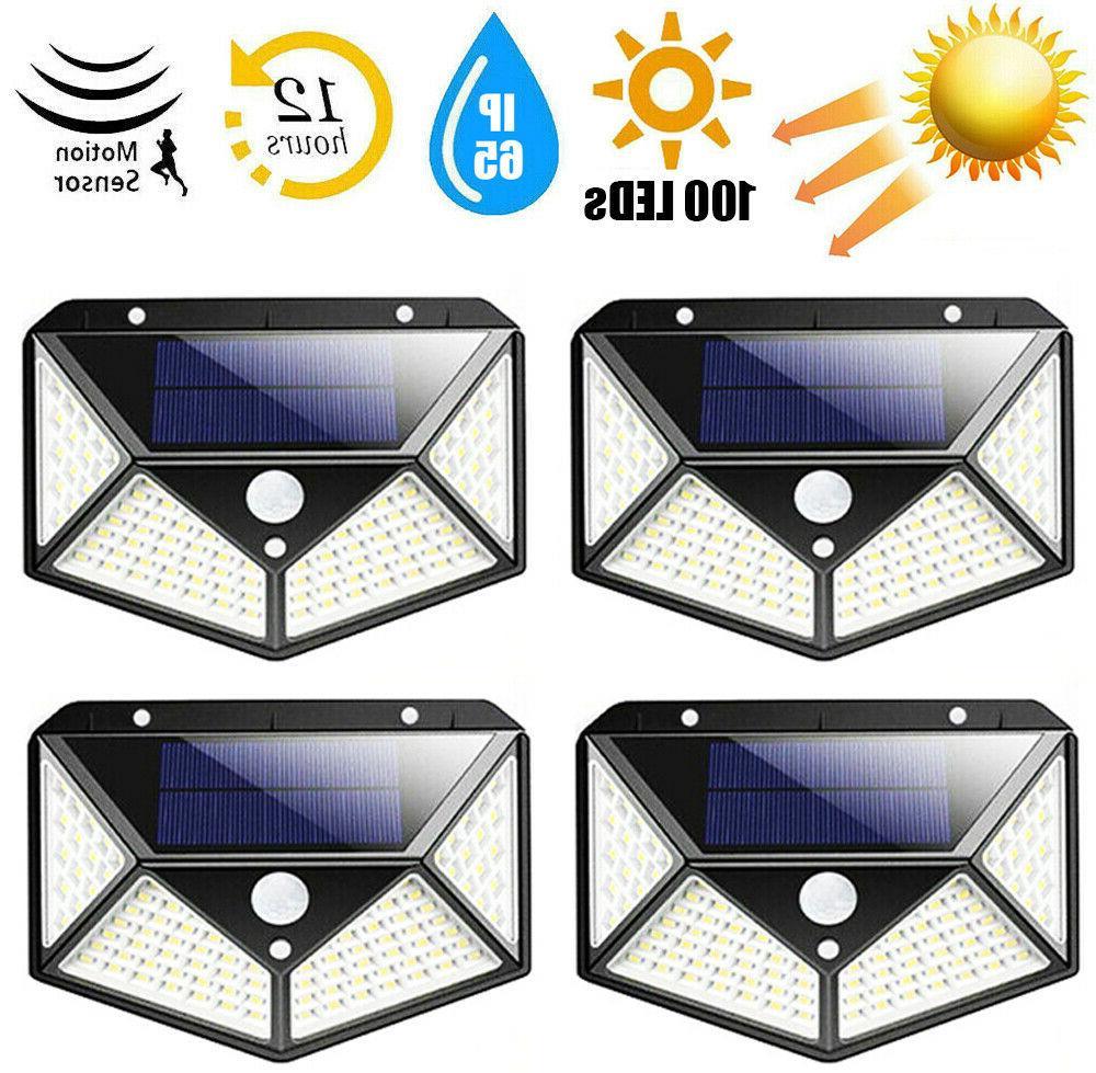 100 led outdoor solar power motion sensor