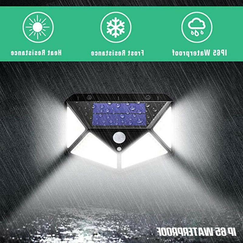 100 LED Sensor Wall Power Waterproof Outdoor Garden Lamp
