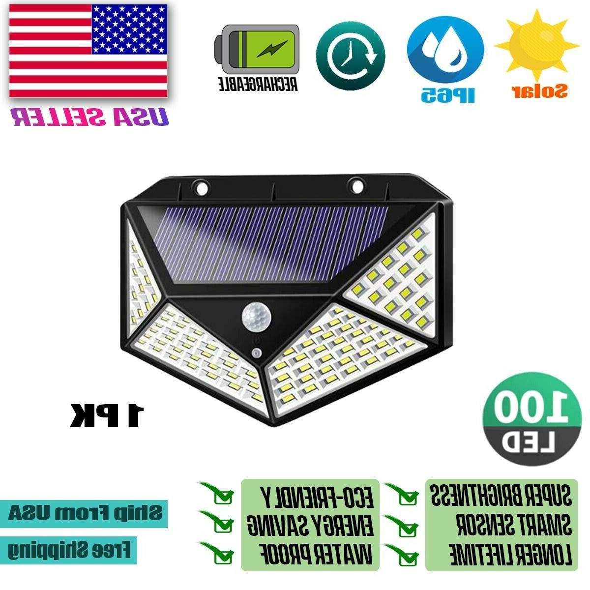 100 LED PIR Motion Sensor Light Power Waterproof Lamp
