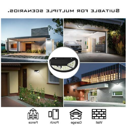 Outdoor Solar Power Motion Sensor Wall Lamp Waterproof