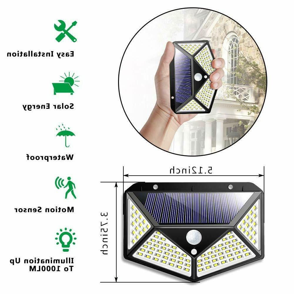 100 LED Solar Outdoor Yard Pathway Lamp