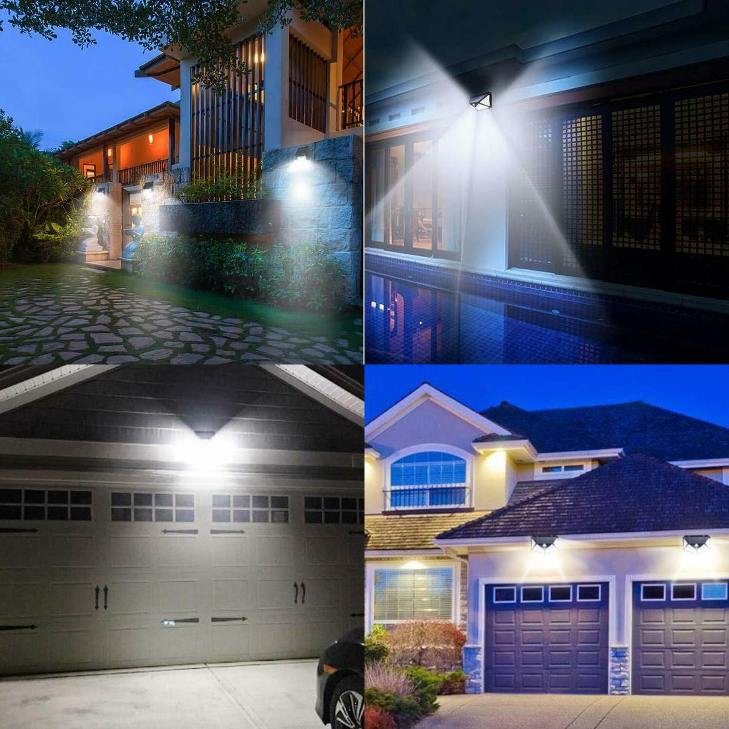 100 LED Outdoor Motion Sensor Wall Yard Pathway Patio Lamp