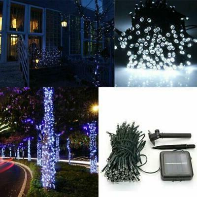 100 led solar power fairy light string