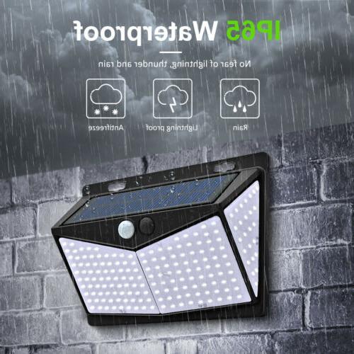 208 Light PIR Sensor Security Garden Lamp US