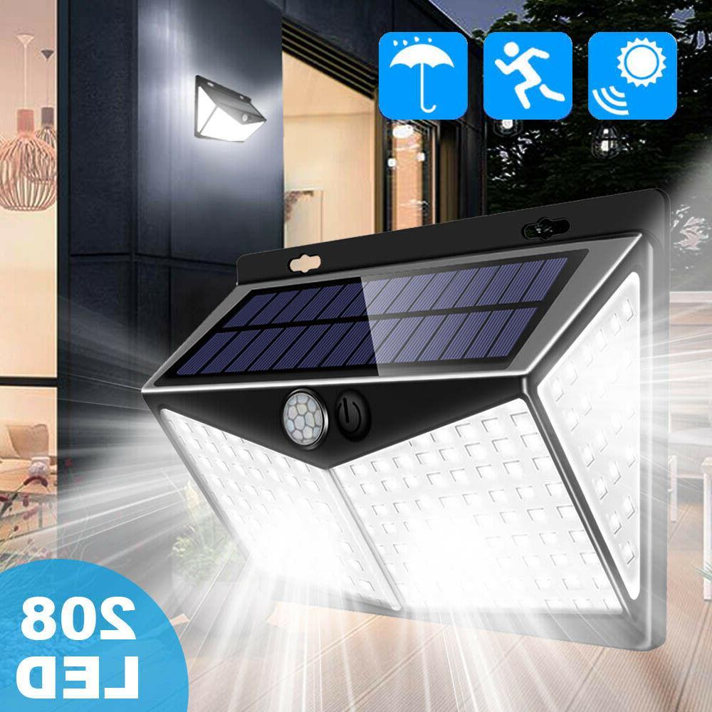 100 led solar power light pir motion