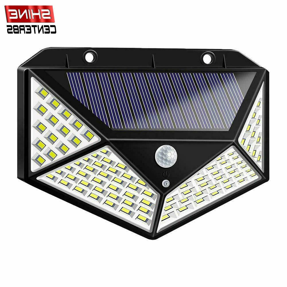 100 led solar power pir motion sensor