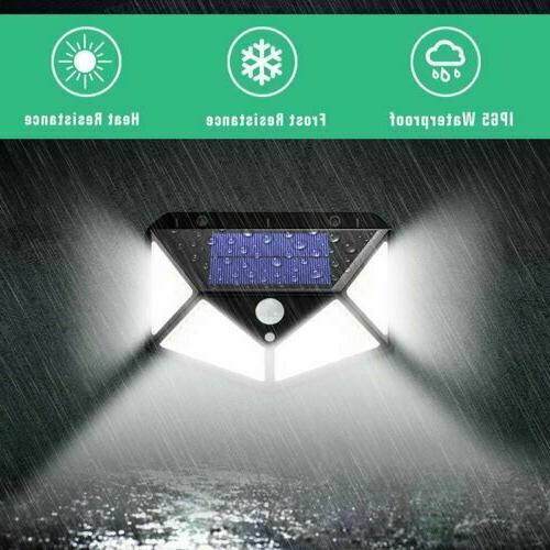 100 Powered PIR Outdoor Garden Security Flood Lamp