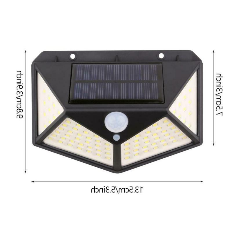 100 PIR Sensor Light Outdoor Garden Security Lamp