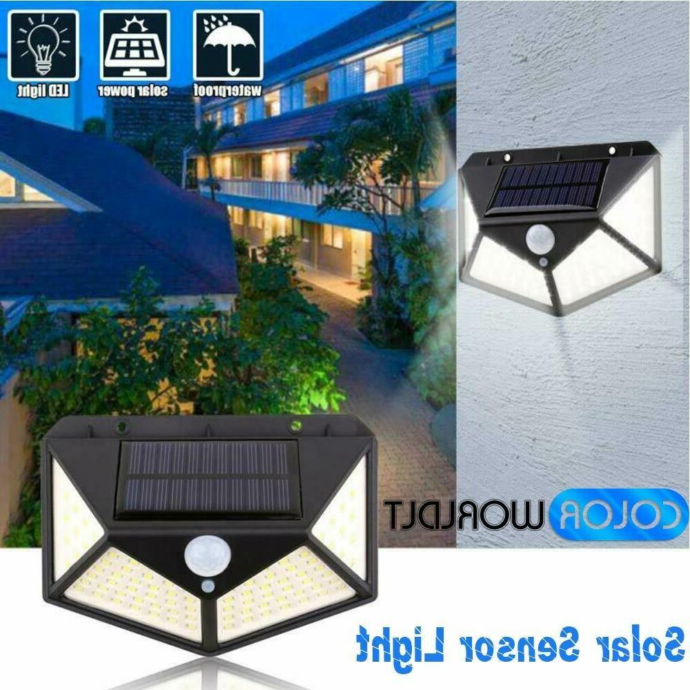 100 led solar powered pir motion sensor