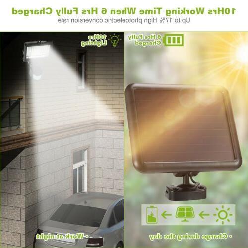 100 LEDs Outdoor Solar Light Sensor Security Lamp Powered