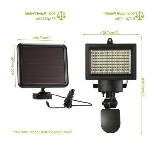 100 LEDs Light Motion Sensor Security Lamp Flood Powered