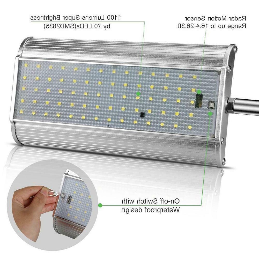 100 LED Sensor Lights Light Motion Security Garden Flood US