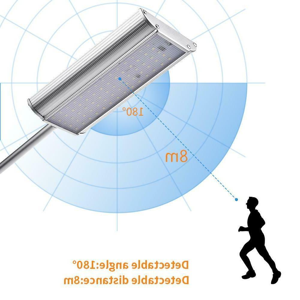 100 LED Solar Sensor Lights Motion Detection Security US