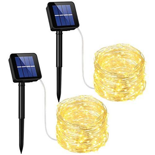 100 solar powered leds string