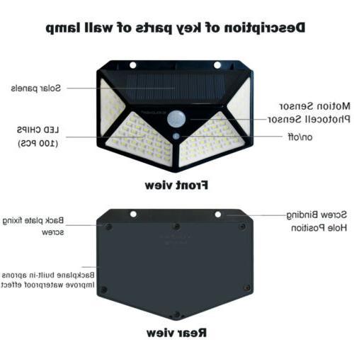 2 LED Lights Outdoor Wireless Motion Sensor Lamp