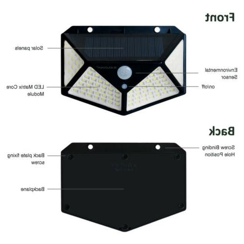 2 Lights Outdoor Sensor Garden Lamp
