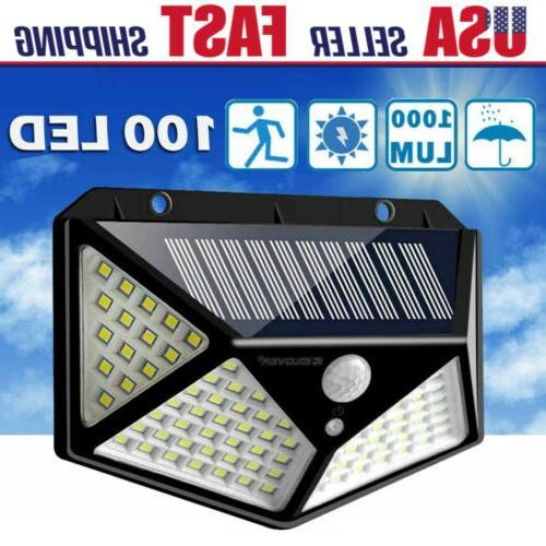 100led solar lights outdoor wireless motion sensor