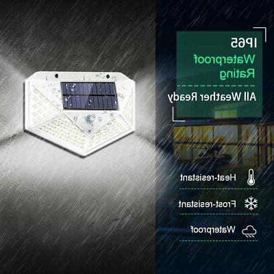 100LED Powered Light Motion Sensor Garden Yard Security