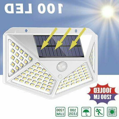 100LED Light Motion Sensor Outdoor Garden Security Lamp