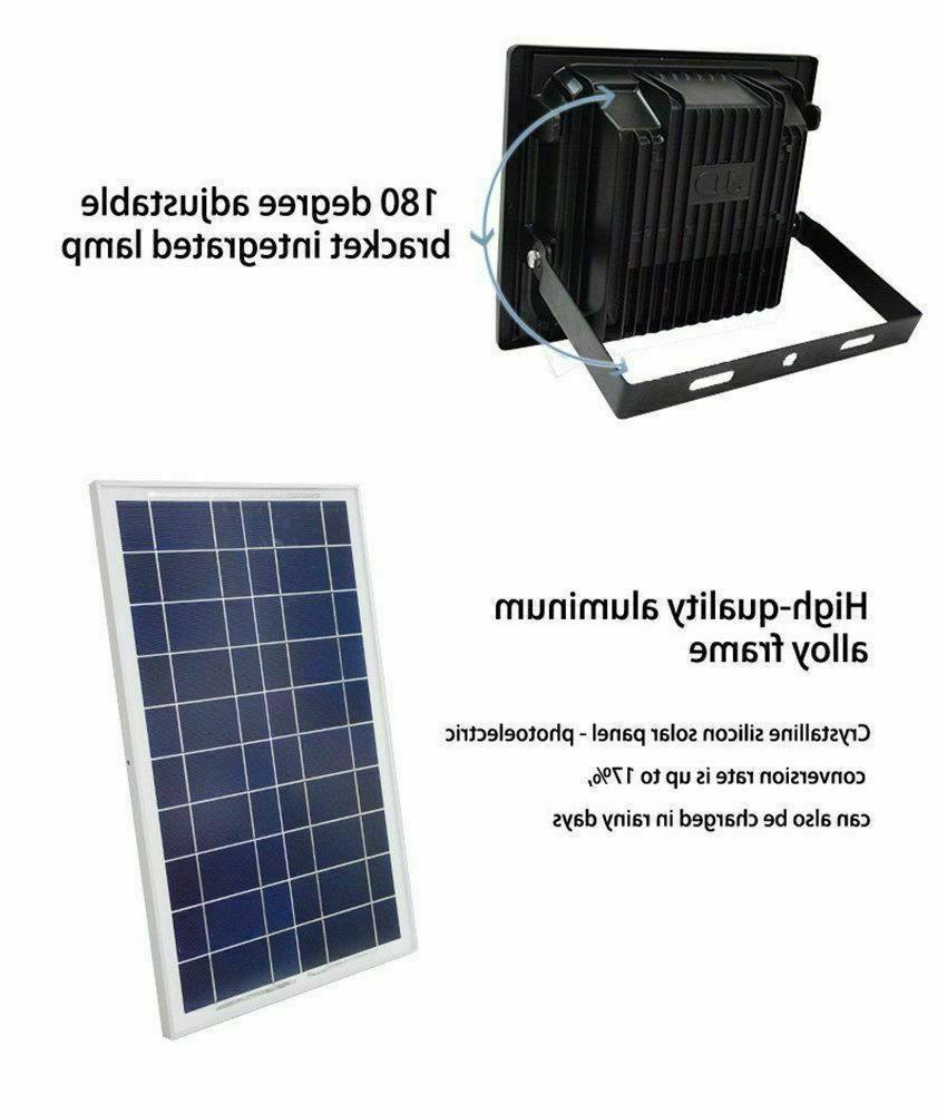 100W Solar Powered Flood Lights Control Security