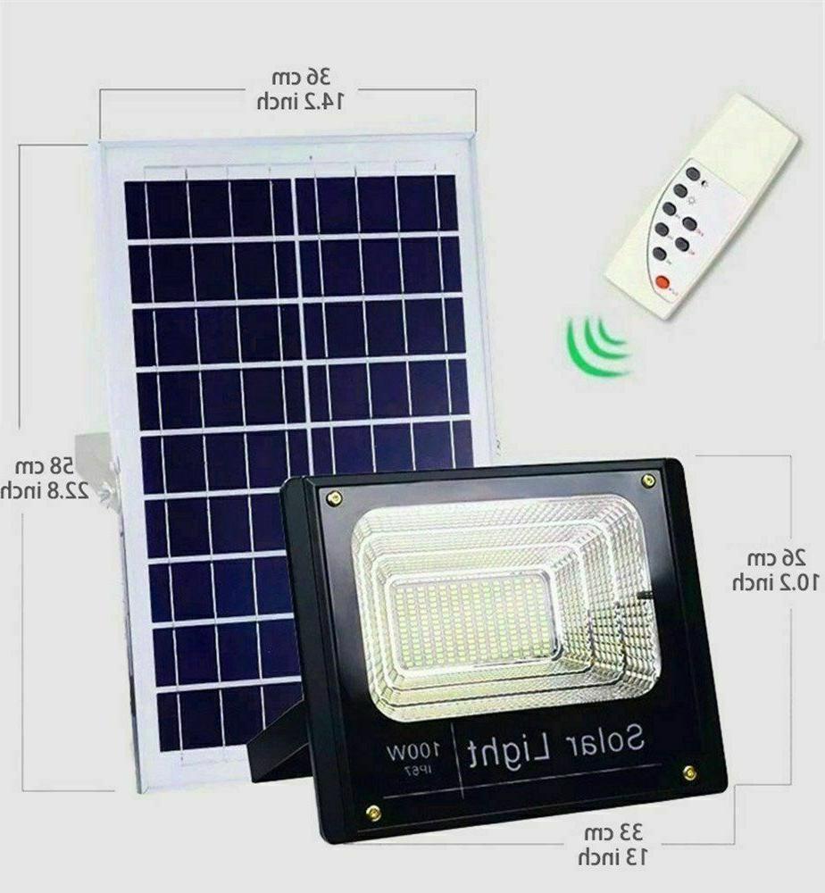 100w solar powered street flood lights outdoor