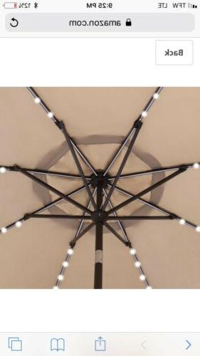 ZENY Umbrella LED Lights Tilt Adjust