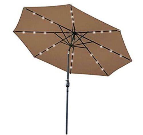 10ft deluxe patio umbrella w solar powered