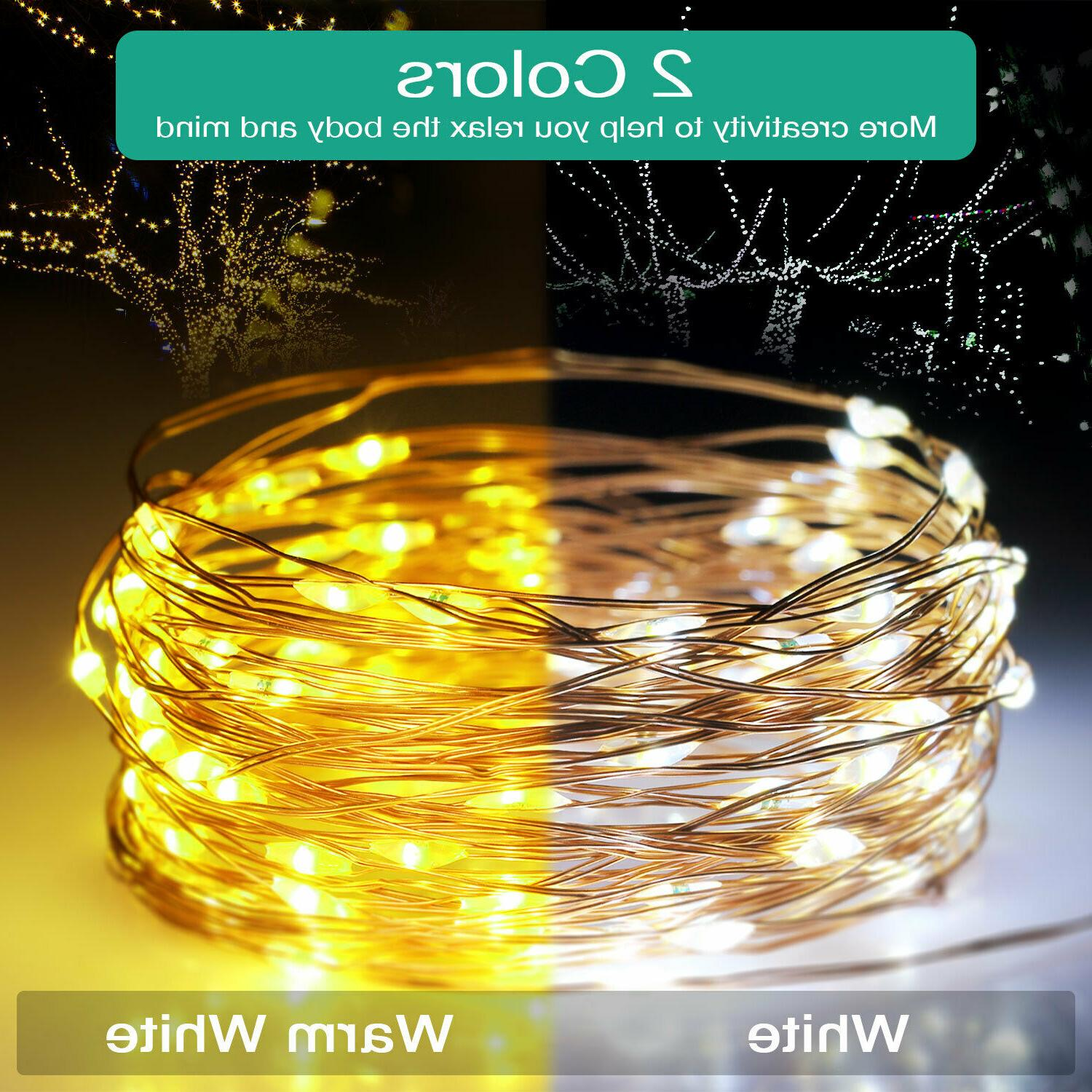 10m 100 LED Solar Powered Fairy String Wedding Light Outdoor