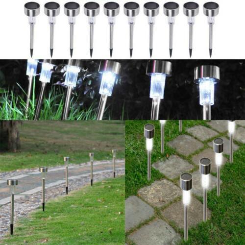 10Pcs Lights Outdoor Garden Lights Stainless Steel