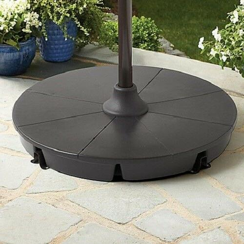11 Round Umbrella Solar Patio Adjustable Tilting
