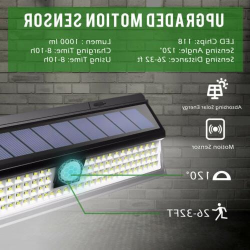 118LED Solar Lights Wireless Yard
