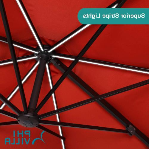PHI 11ft Cantilever Umbrella Powered LED - 8