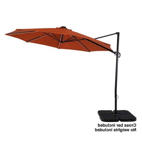 11ft offset cantilever umbrella with solar powered