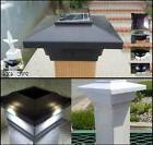 12- 4X4 Solar Deck Post Cap SMD LED Lights Black or Off Whit