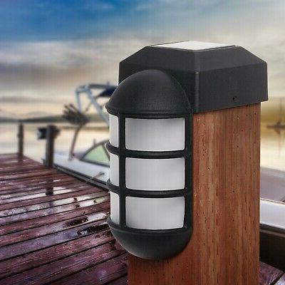 GreenLighting Solar Post Cap Metal Side Mount Light