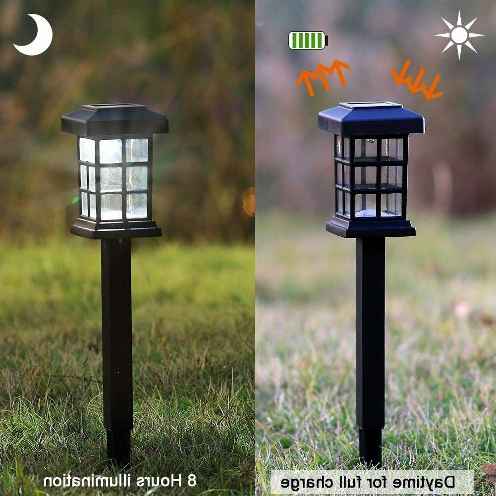 MAGGIFT 12 Pack Solar Pathway Lights Outdoor LED Solar Power