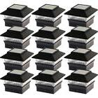 12 pack solar power square outdoor post