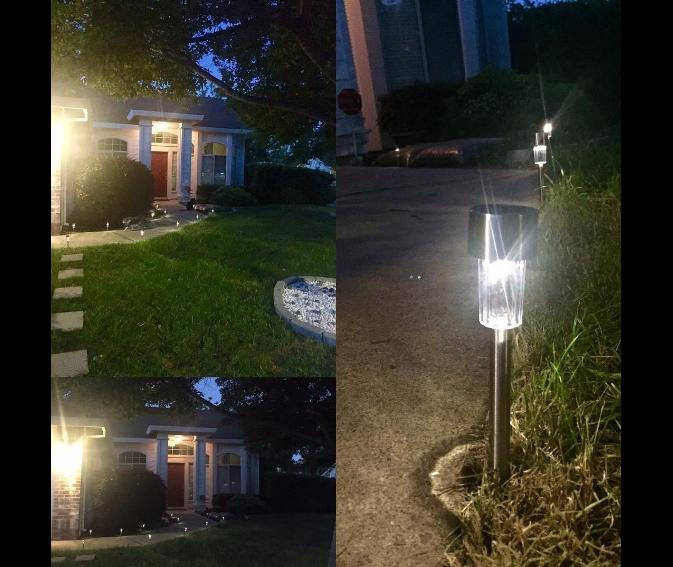 12 pcs Outdoor Stainless LED Landscape Path Lights Lamp