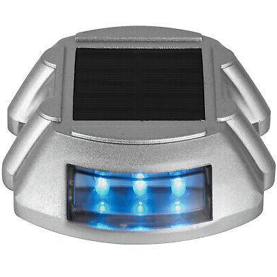 12 Solar LED Marker Lights Path Deck