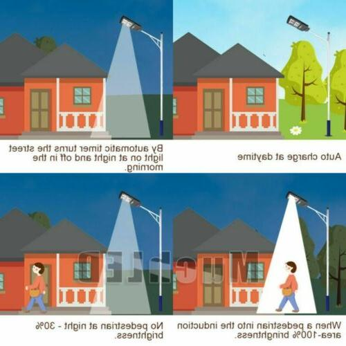 120000LM Dusk-to-Dawn Solar Street Light LED