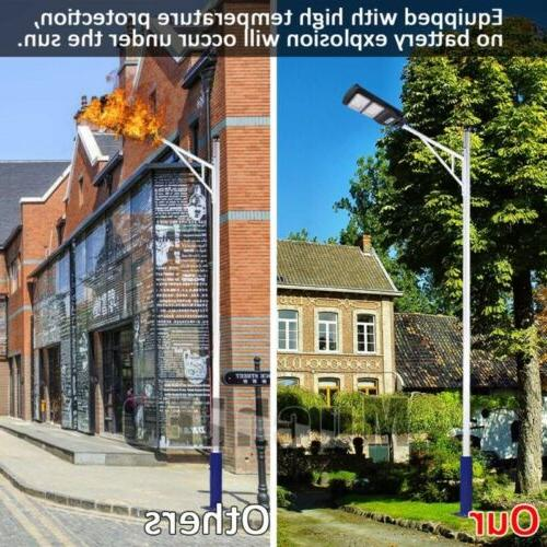 120000LM Outdoor Dusk-to-Dawn Solar Street Light LED Road