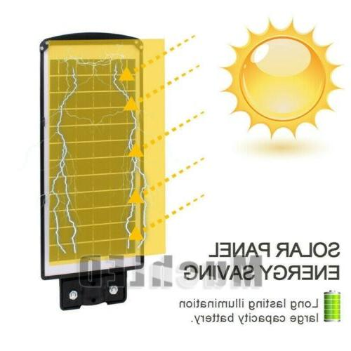 120000LM Outdoor Dusk-to-Dawn Solar Street Light Commercial IP67