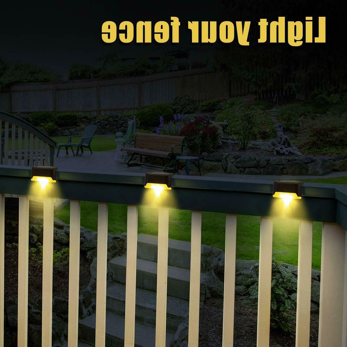 12Pcs Solar Deck Lights Outdoor Garden Stairs