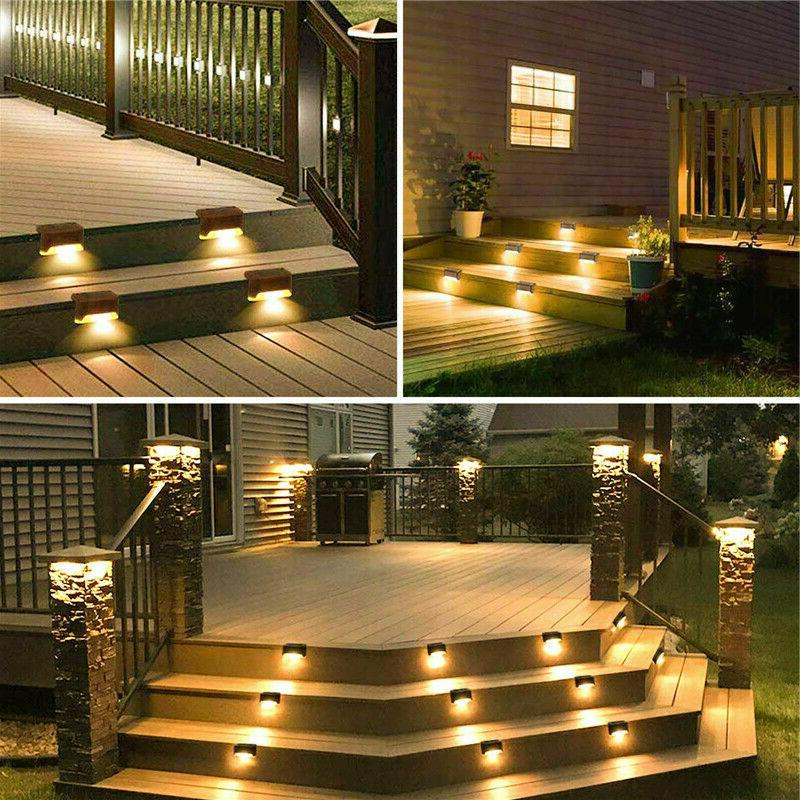 12PCS LED Deck Lights Brown