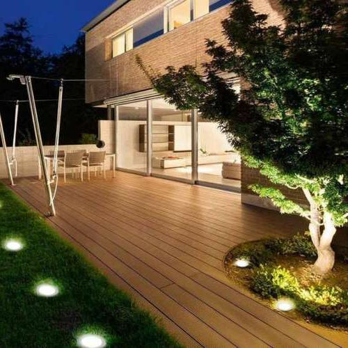 16LED Disk Ground Deck Path Waterproof