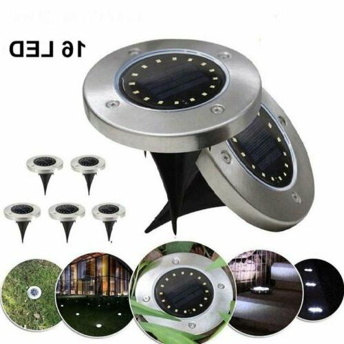 16LED Solar Ground Deck Path Outdoor Waterproof